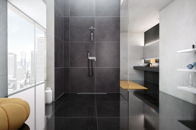 Vasca Da Bagno Filo Pavimento : Profili bagno per docce e vasche