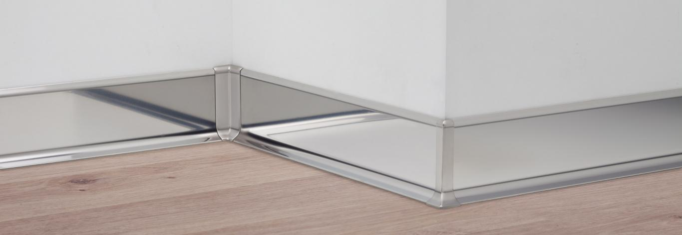 Stainless steel skirting boards