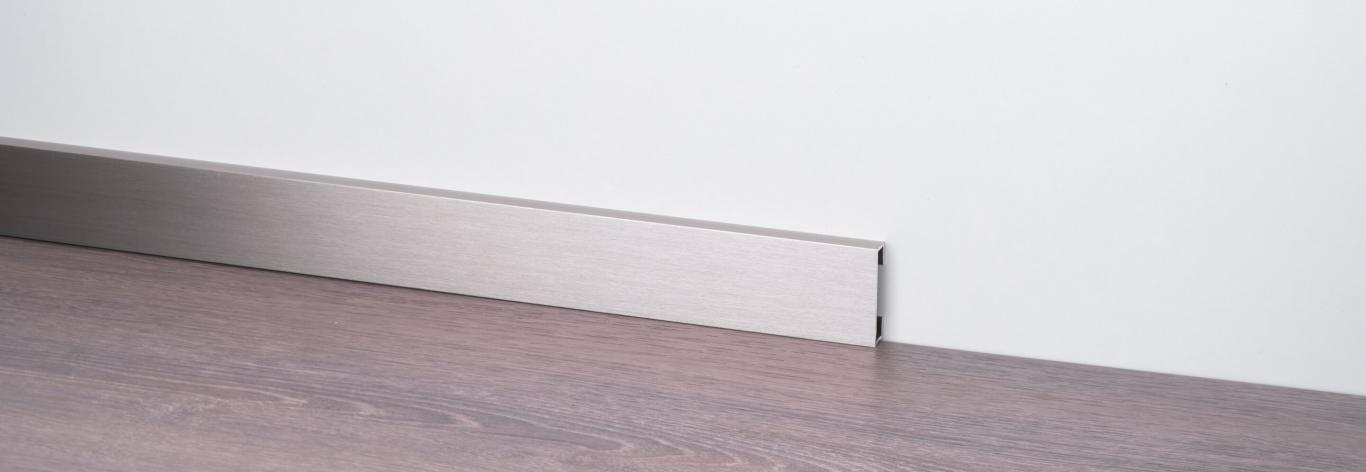 Aluminium skirting boards