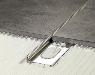 AISI 316 Stainless Steel Profiles - Cerfix Proangle - Profiles for floors of same height