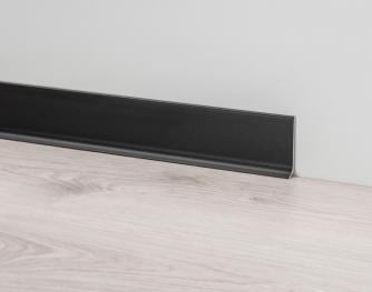 Aluminium Skirting Boards - Metal Line 90 black ST