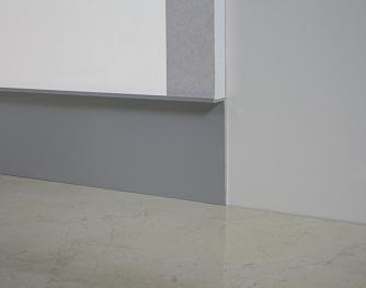Aluminum skirting board - Metal Line 100 - 80557