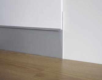 Aluminum skirting board - Metal Line 101 - 80559