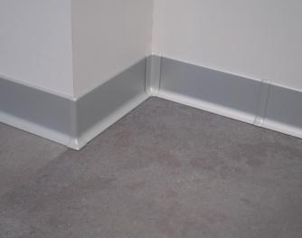 Aluminum skirting board - Metal Line 90 Silent - 83713