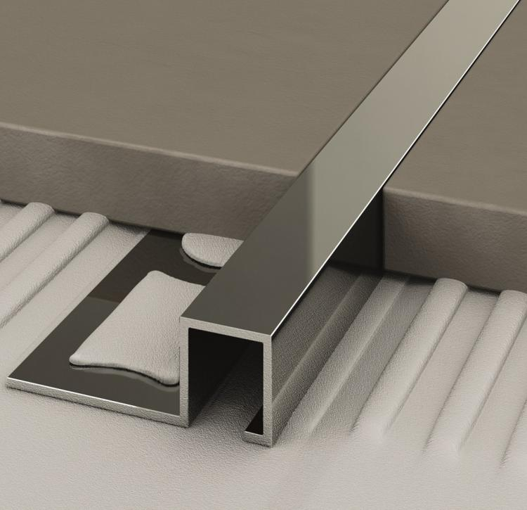 Chromium-plated brass profiles - Cerfix Prostyle - Profiles for floors of same height