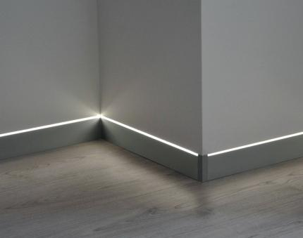 Prolight Metal Line 88/I6L/A - Aluminium Skirting Board