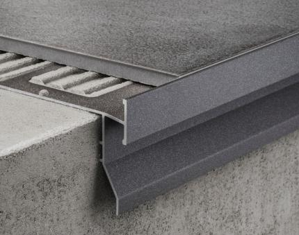 Aluminium Profiles - CPGV/55/ ancient grey colour-coated aluminium