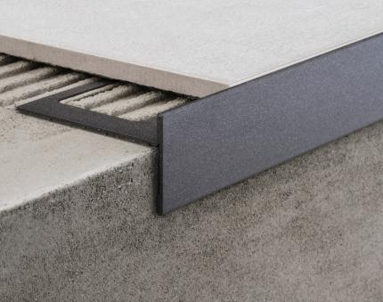 Aluminium Profiles - CPEV/45/ ancient grey colour-coated aluminium
