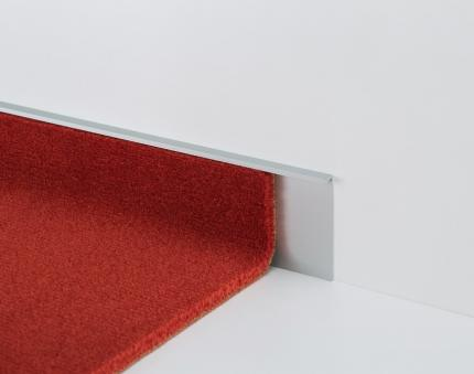 Aluminium Skirting Boards - PVC Line 173 - 78102