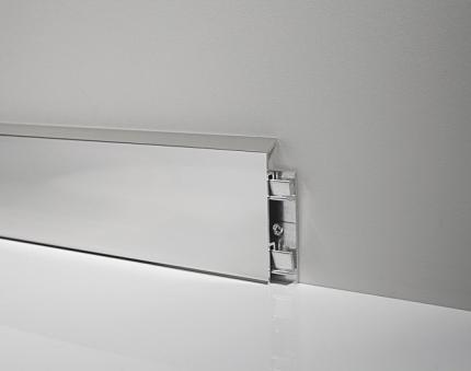 Aluminium Skirting Boards - Metal Line 95 - 80476