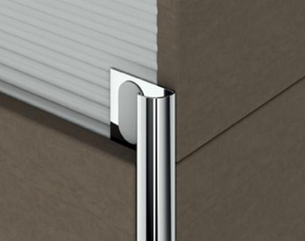 Chromium-plated brass profiles - Cerfix Protrim - 82676